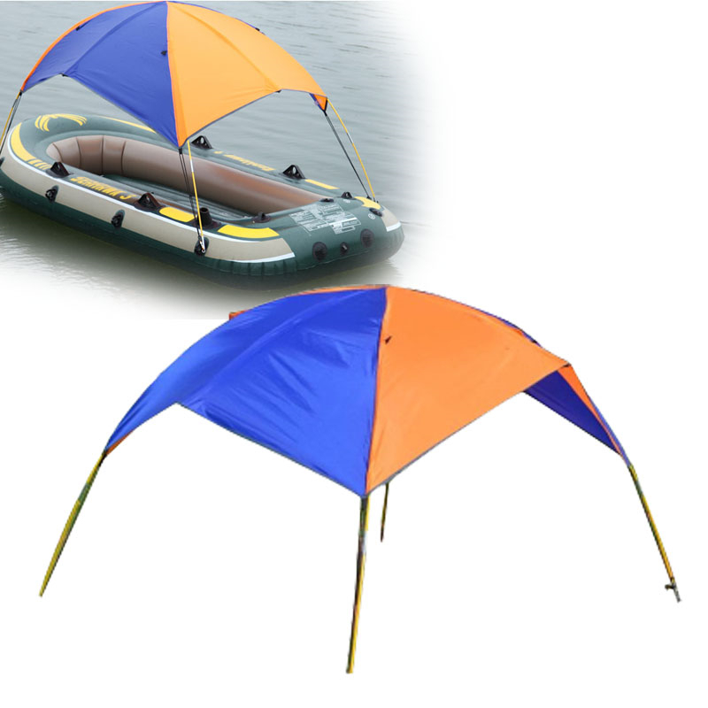Inflatable Boat Tent Kayak Accessories Fishing Sun Shade Rain Canopy Kayak Kit Sailboat Awning Top Cover 2 Persons Boat Shelter