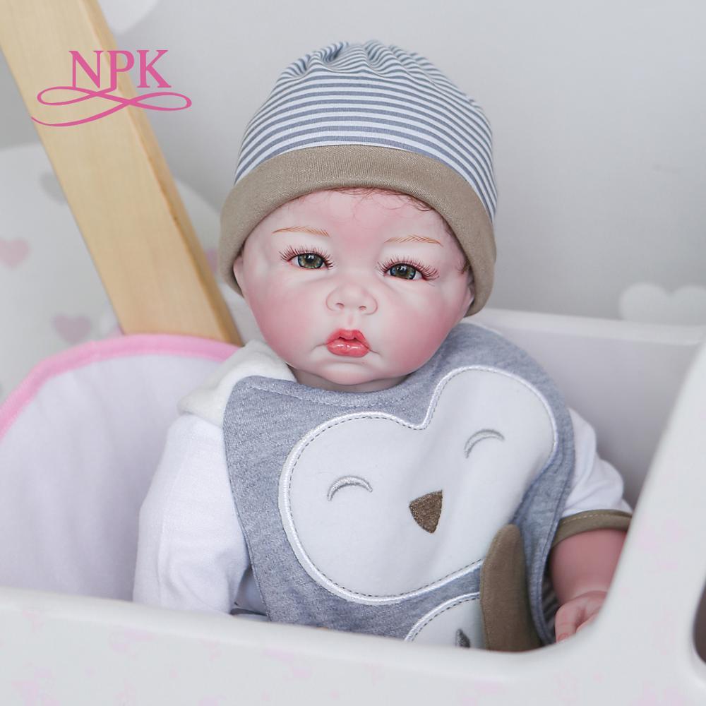50CM NPK 100% handgemachte weiche körper baby puppe detaillierte malerei rebron baby puppe sammlerstücke kunst puppe|Puppen|   -