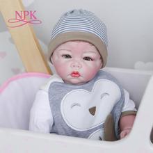 50CM NPK 100% handgemachte weiche körper baby puppe detaillierte malerei rebron baby puppe sammlerstücke kunst puppe