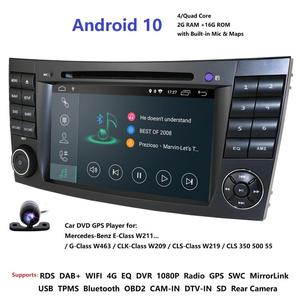 Image 1 - IPS 4G Android 10 2 din car DVD player For Mercedes Benz E class W211 E200 E220 E300 E350 E240 E270 E280 CLS CLASS W219 Cam USB