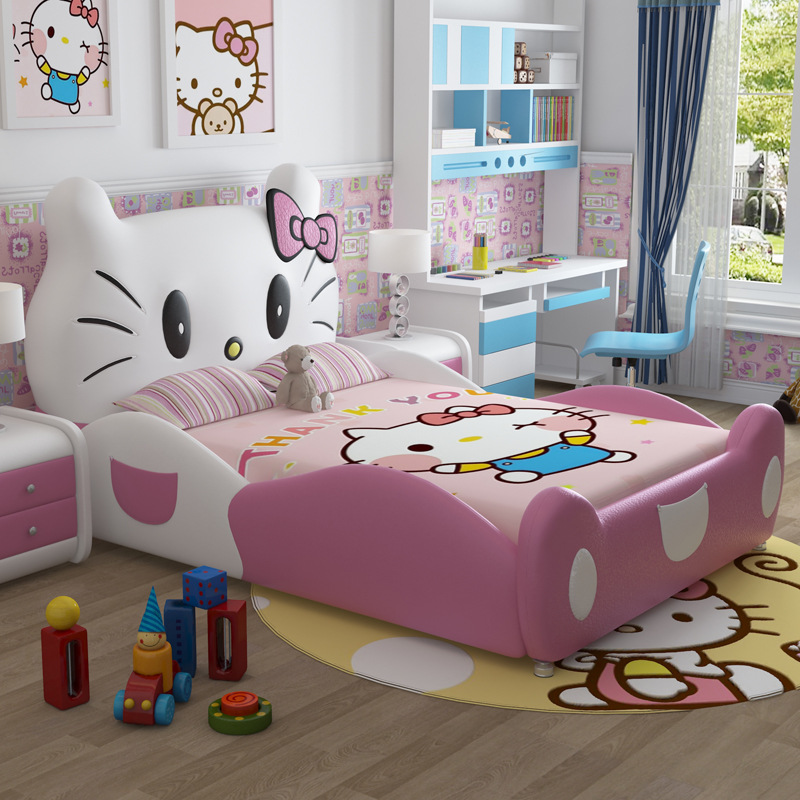 Children Beds Hello Kitty Leather