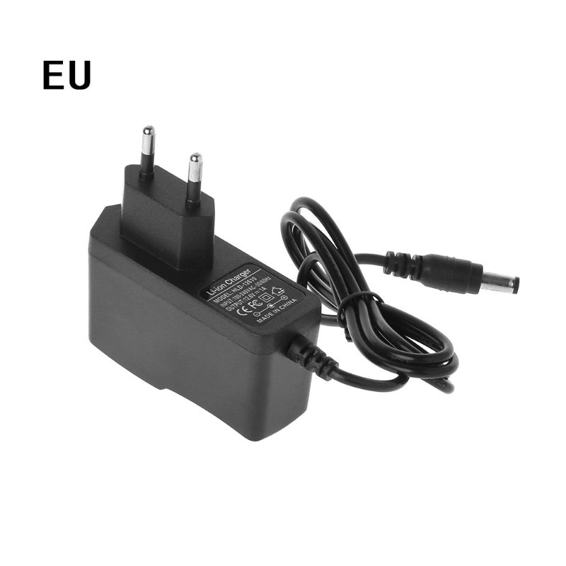 EU/US Plug 12.6V 1A Lithium Battery Charger 18650/Polymer Battery Pack Charger With Wire Lead DC Constant Current Voltage|Chargers|   - AliExpress