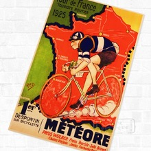 Francia bicicleta todoterreno carrera 1925 Vintage cartel Retro de Kraft decorativo DIY pared lienzo pegatinas hogar Bar arte carteles de decoración