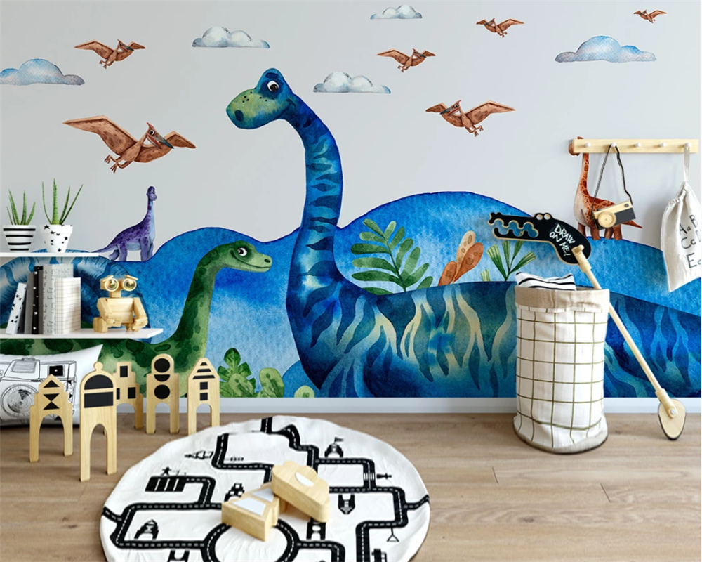Beibehang Custom Nordic Modern Minimalist Dinosaur World Children's Room Background Decorative Painting Wallpaper Papier Peint