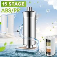 Bath Shower Head Filtration Purifier Hard Water Filter Removal Chlorine Softener