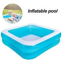 Centro de natación inflable para niños, Material de refracción de piscina, azul hielo, segundo anillo cuadrado, lavabo de agua