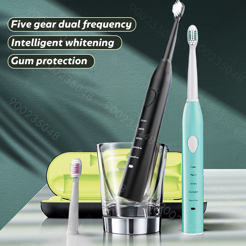 Sonic Electric Toothbrush Best 5 Modes Rechargeable USB + 4 Replacement Heads Waterproof Timer Tooth Brush Whitening for Adults 1