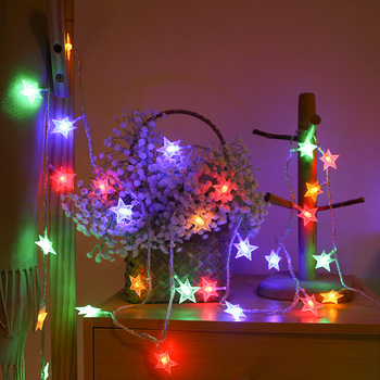 USB/Battery Power LED star Garland Lights Fairy String Waterproof Outdoor Lamp Christmas Holiday Wedding Party Lights Decoration usb battery led snowflake garland lights fairy string waterproof outdoor lamp christmas holiday wedding party lights decoration
