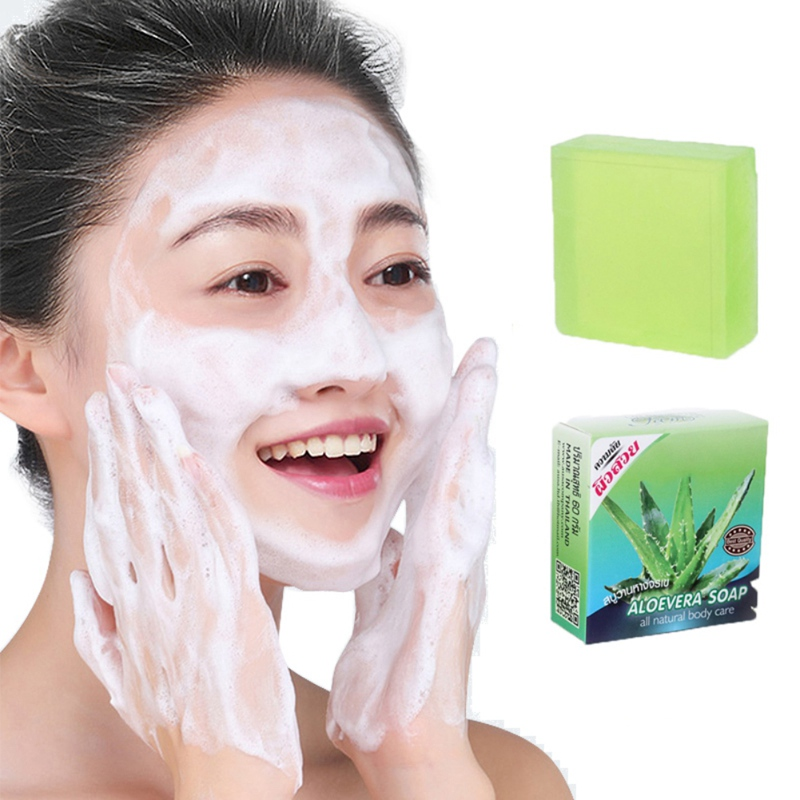 2019 Aloe Vera Handmade Soap Gel Oil-control Anti-acne Oil-control Sulfur Soap Removal Pimple Pore Acne Treatment Soap