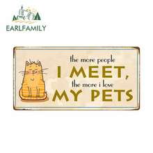 EARLFAMILY 13cm x 6.6cm for The More People I Meet Sign Cart