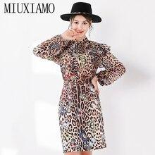 MIUXIMAO Top Quality 2019 Fall Suit Sets 2 Piece Fashion Ful