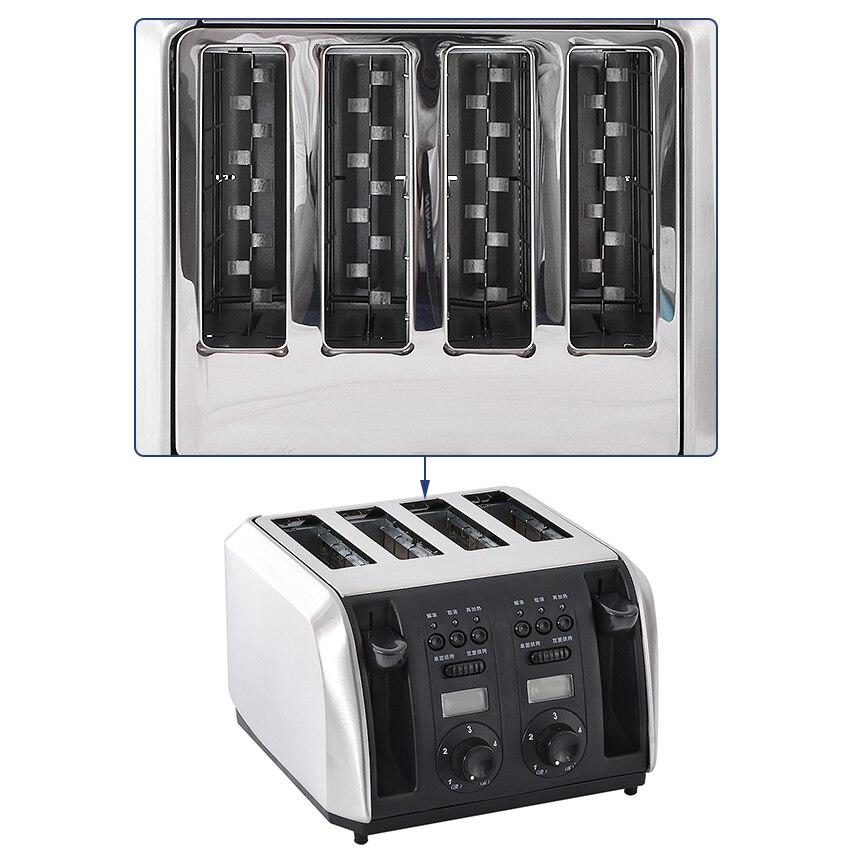 Нержавеющая сталь хлебопечка машина один/двойной хлеб боковой электрический тостер автоматический завтрак тост сэндвич-мейкер