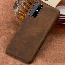 Asli Pull-Up Kulit Smartphone Case Telepon untuk Samsung Galaxy S20 S20 Plus S20 Ultra A50 A51 A8 Catatan 10 Plus Back Cover Armor(China)