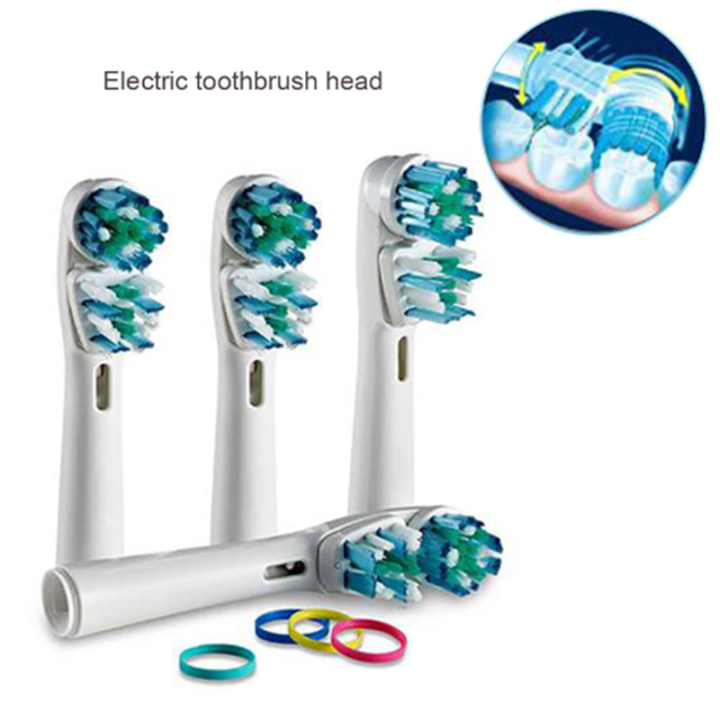2019 Hot 4pcs Packed Replacement Toothbruh Head SB-417A Compatible With Vitality Pro500, 1000, 3000, 5000 Oral B Dual Clean Head image