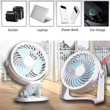 Настольный вентилятор с usb зажимом и сильным ветром тихий портативный