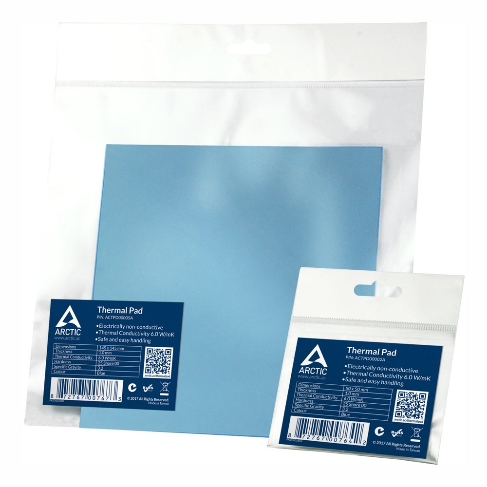 ARCTIC Thermal Pad 6 0 W mK 0 5mm 1 0mm 1 5mm Thermal Mat 50x50mm 145x145mm High Efficient Thermal Conductivity Thermal pad