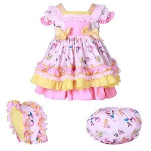 Vestido español para niñas pequeñas, vestidos de fiesta de cumpleaños de princesa de verano para niña, traje de bautizo, bata infantil, ropa infantil para niña