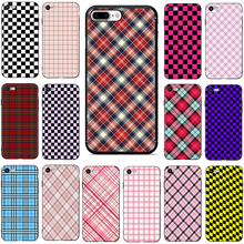 цена на checkered phone case for iphone 7 plus Soft TPU Silicone Phone Cover Case For iphone 5 5s SE 6 6s 7 8 Plus X XR XS Max coque