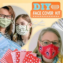 Face Cover Material DIY Self-Made Face Cover Material Set DIY Fabric  Face Cover Different Pattern Artistic fabric Elastic Band cover her face
