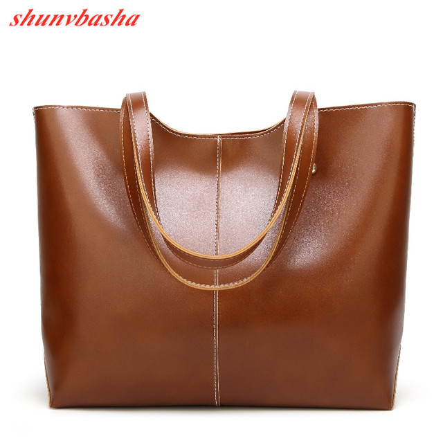 100% Genuine leather Women handbags  New Women's Korean version of big sweet fashion soft bag slung one shoulder 1
