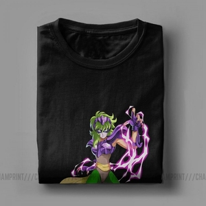 Image 5 - Men Ophiuchus T Shirts Knights of the Zodiac Saint Seiya 90s Anime Cotton Clothing Awesome Short Sleeve Tee Big Size T Shirts
