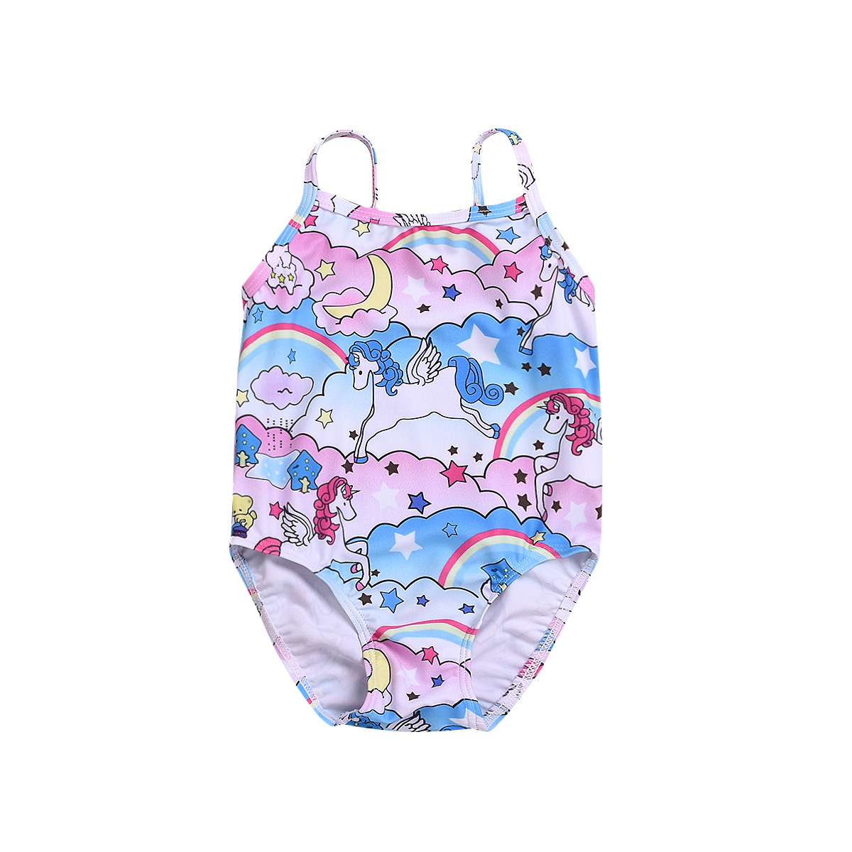 Childrenswear Summer KID'S Swimwear GIRL'S Swimsuit Camisole Cartoon Unicorn Bathing Suit