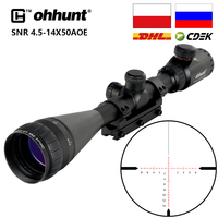 ohhunt 4.5 14x50 AOE Hunting Riflescope Red Special Cross Reticle Sniper Optic Scope Sight FOR Rifle One Piece 11mm or 20mm Ring