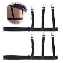 Novo 1 par masculino e feminino camisa ligas acessórios de roupas estadias suspensórios de negócios cintas masculino liga cinto