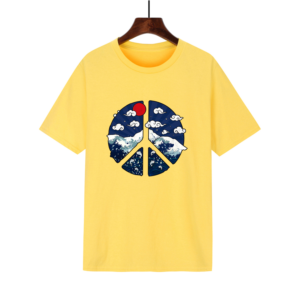 Japanese retro fashion brand men's short sleeve summer original style students round neck loose trend T-Shirt Large Size T-shirt