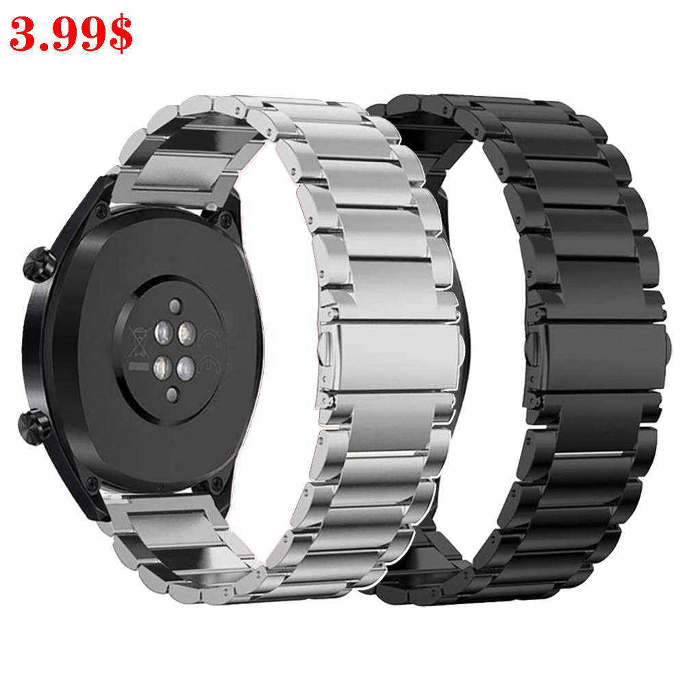 Galaxy Watch 46mm Strap For Samsung Gear S3 Frontier Active Huawei Watch GT 2 22mm Watch Band Stainless Steel Bracelet 44mm 40mm