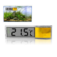 Aquarium Digital LCD Elektronik Tangki Ikan 3D Pengukur Suhu Digital Stiker Udang Ikan Turtle(China)