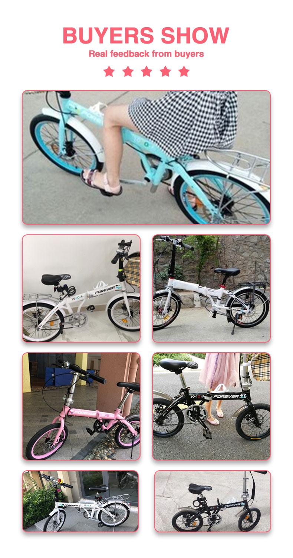 H49ccc0d3fa4242a18851d903a9749c7bu 20 inch Mountain bike off-road male female wheel folding bicycle dual disc brakes variable mountain bike bicycles road bike