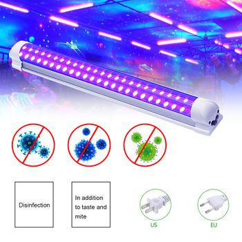 10W Uv Sterilisator Zwart Licht Led Bactericide Lamp Paars Tube Kerstmis Voor Home Party Stage Light Dj Wall Washer spot Light-in Toneelbelichtingseffecten van Licht & verlichting op