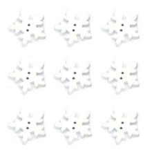 100 шт рождественские белые деревянные пуговицы-снежинки для скрапбукинга