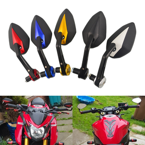 Motorcycle Mirror Handlebar Side Handle Bar Ends Mirror For YAMAHA R6 R1 MT 09 07 TMAX XMAX WR 125 250 KTM DUKE 690 125 200 390(China)