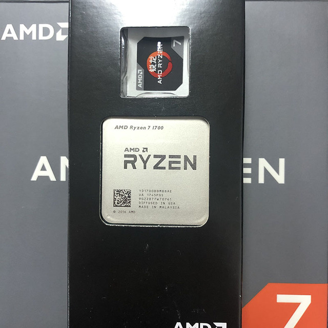 AMD Ryzen 7 1700 R7 1700 CPU Prozessor 8Core 16 Themen AM4 3,0 GHz TDP 65W 20MB cache 14nm DDR4 Desktop YD1700BBM88AE