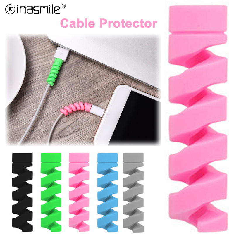 10Pcs Cable Protector For IPhone Charger Protection USB Cord Saver USB Cable  For Cable Protector Miniusb Android Typec Cable