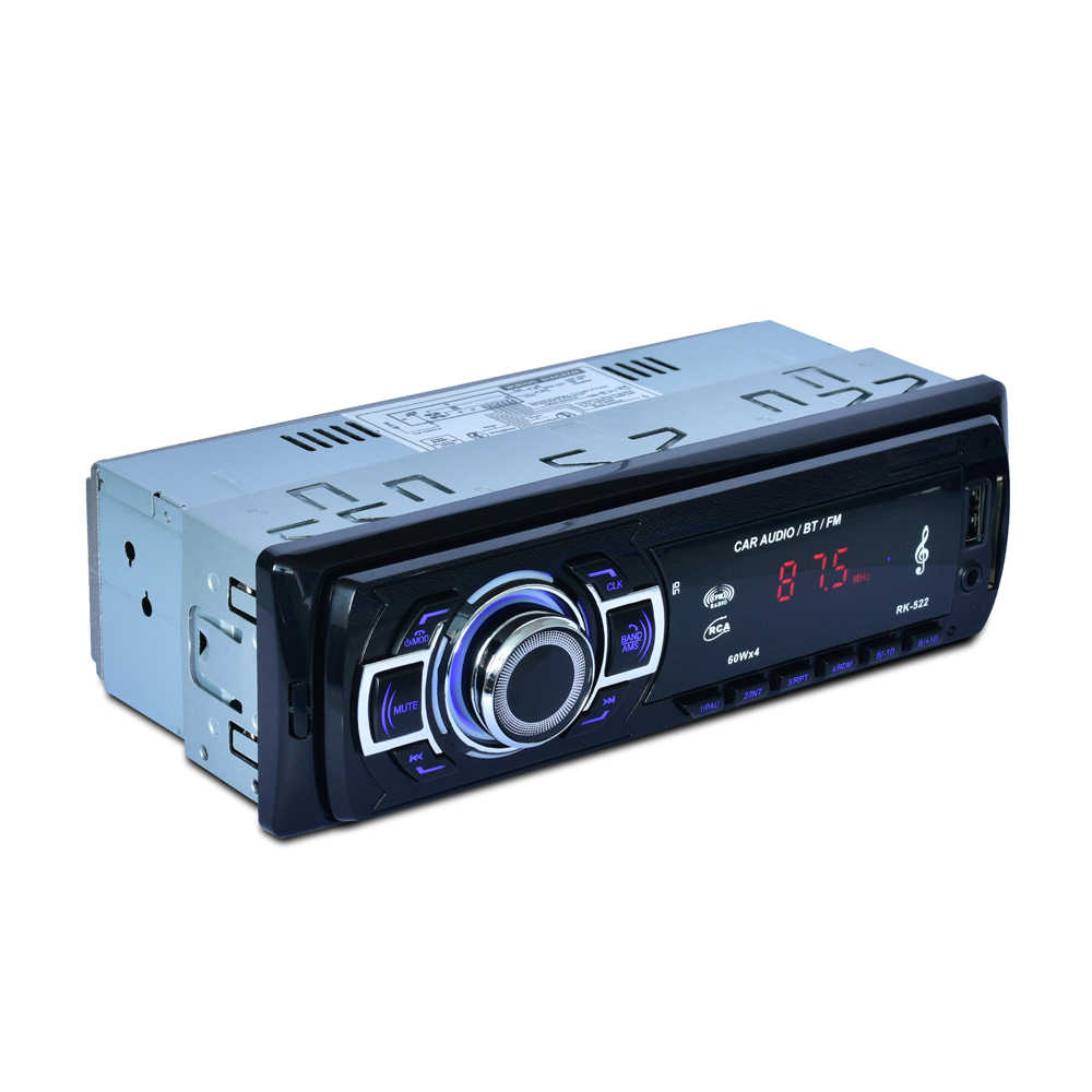 RK-522 auto radio 12V 1DIN Auto Radio Player Bluetooth Stereo FM MP3 Audio Ladegerät USB SD slot AUX-in Auto Elektronik