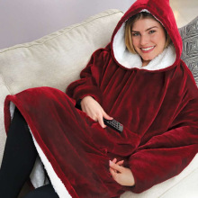 Tv новая Толстовка Huggle ленивый пуловер ТВ одеяло уличная морозостойкая одежда с капюшоном флисовая Термоодежда
