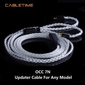Image 1 - CABLETIME HIFI kulaklık yükseltme kablosu 0.78 tel akustik tip c yedek ses yükseltme tel OCC DIY HIFI kulaklık MMCX 1.2m