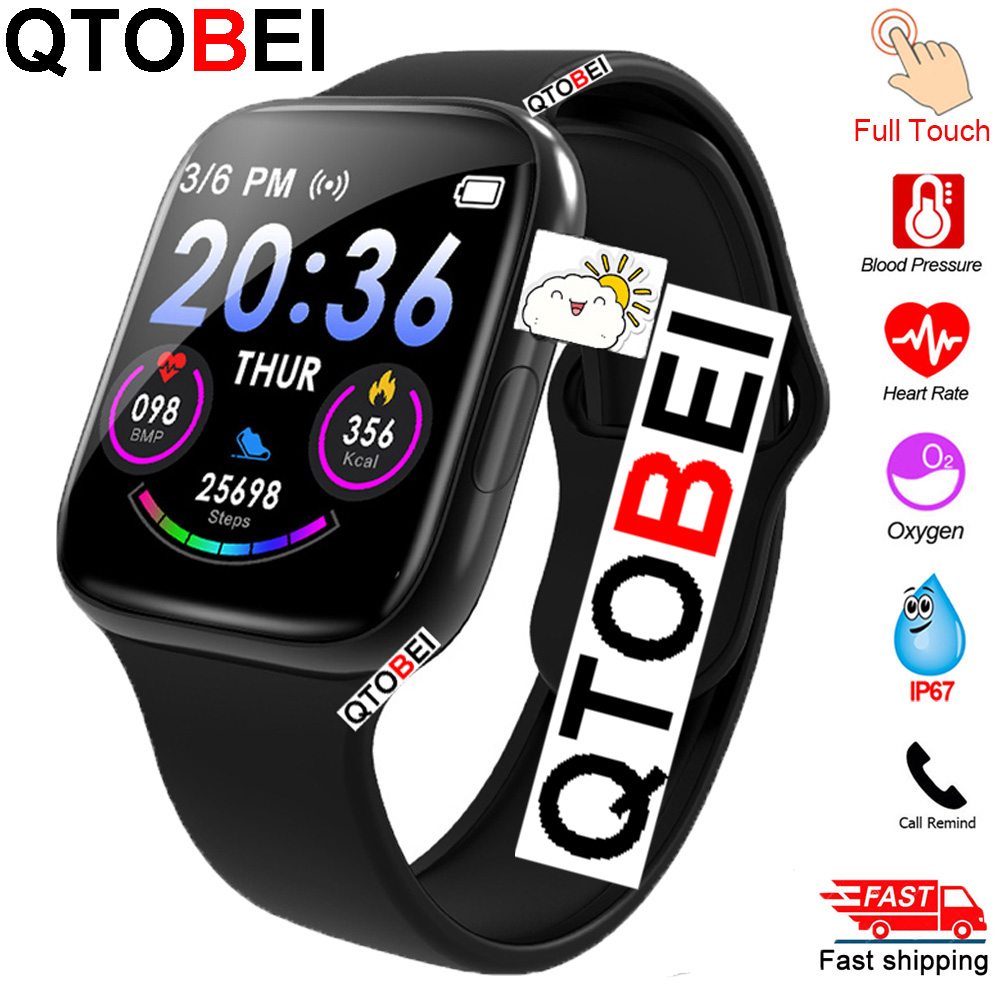 Full Touch Smart Watch Men Women Heart Rate Blood Pressure Monitor Smartwatch Watches Sport Smart Watch For Android IOS IWO 12