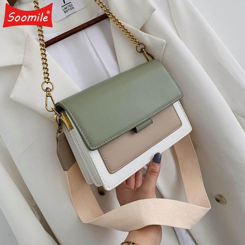 Mini PU Leather Crossbody Bags For Women 2019 Green Chain  Shoulder Messenger Bag Lady Travel Purses and Handbag Cross Body  BagTop-Handle Bags