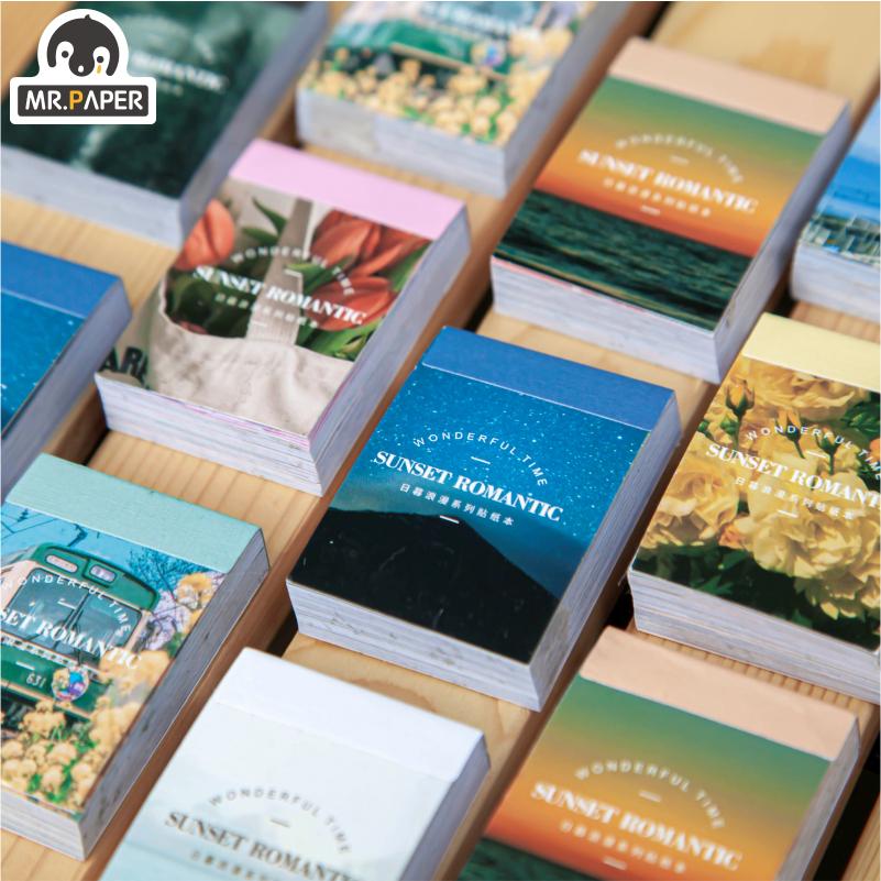 Mr.paper 8 Design Ins Style Japanese Romantic Series Frame Sticker Creative Mini Pocket Decoration DIY Material Sticker