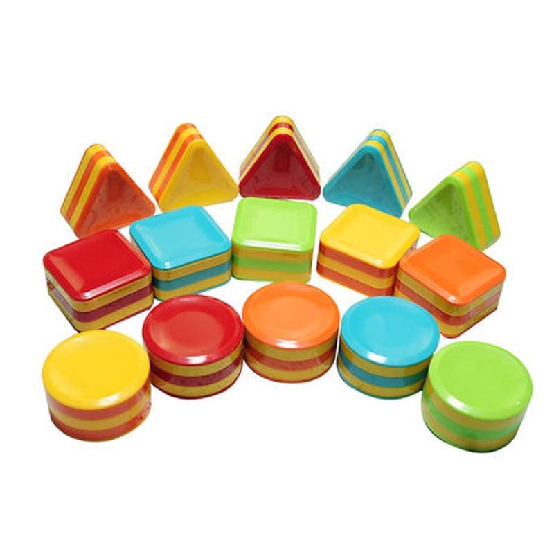 Mini Maraca Circle Square Shape Shaker Baby Music Sand Box Activity Cube Fun Toddler Toys Kids Present
