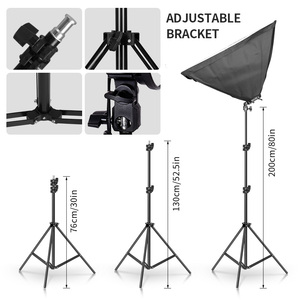 Image 4 - Photography Lighting 50x70CM Four Lamp Softbox Kit E27 Holder With 8pcs Bulb Soft Box Accessories For Photo Studio Video