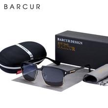 BARCUR Nero di Alta Qualità Occhiali Da Sole Polarizzati Degli Uomini di Guida Occhiali Da Sole per Uomo Shades Occhiali Con La Scatola