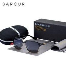 BARCUR Schwarz Hohe Qualität Polarisierte Sonnenbrille Männer Fahren Sonnenbrille für Mann Shades Brillen Mit Box