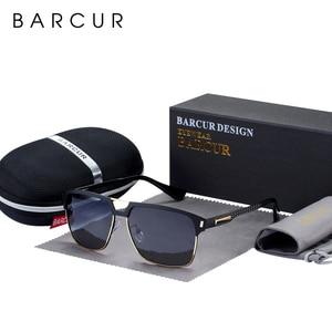 Image 1 - BARCUR czarne wysokiej jakości okulary polaryzacyjne mężczyźni jazdy okulary przeciwsłoneczne dla człowieka odcienie okulary z pudełkiem