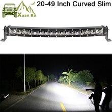 Slim Cong Led Bar Dành Cho Xe Hơi 12V 24V 4X4 Tắt Đường 4WD Atv Xe Suv Xe Tải combo Thanh Xà Barra Led Lái Xe Đèn Led Công