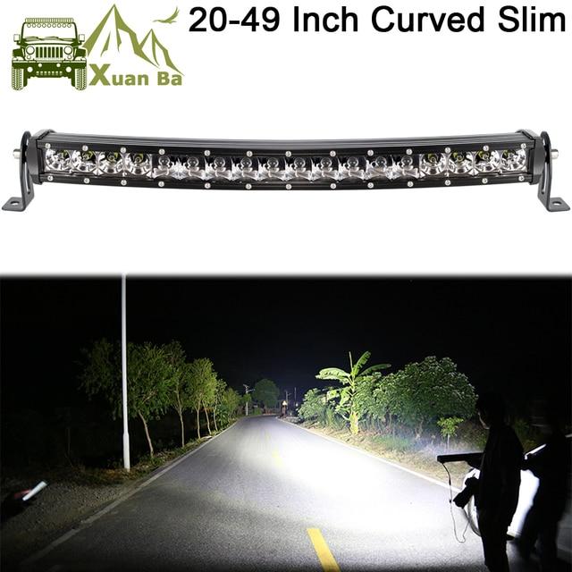 Slim Curved Led Light Bar For Car 12V 24V 4x4 Off road 4WD Atv Suv Trucks Combo Beams Barra Led Driving Work Lights